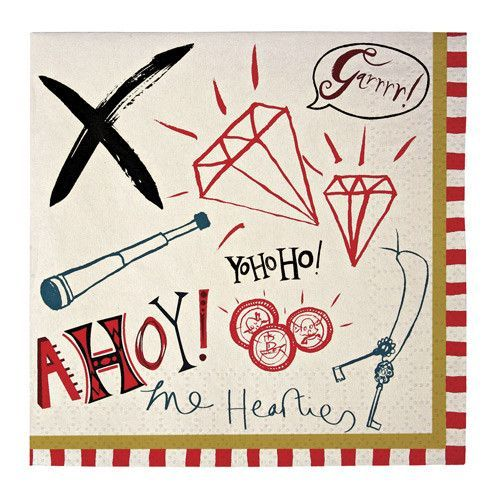 Bash Box Party | AHOY THERE PIRATE NAPKIN