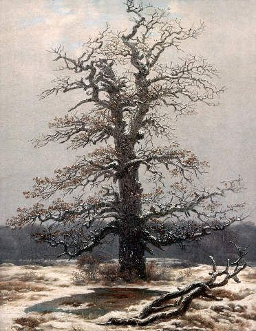 caspar david friedrich eiche im schnee 54 0 x 70 0 cm pastell basic pinterest caspar. Black Bedroom Furniture Sets. Home Design Ideas