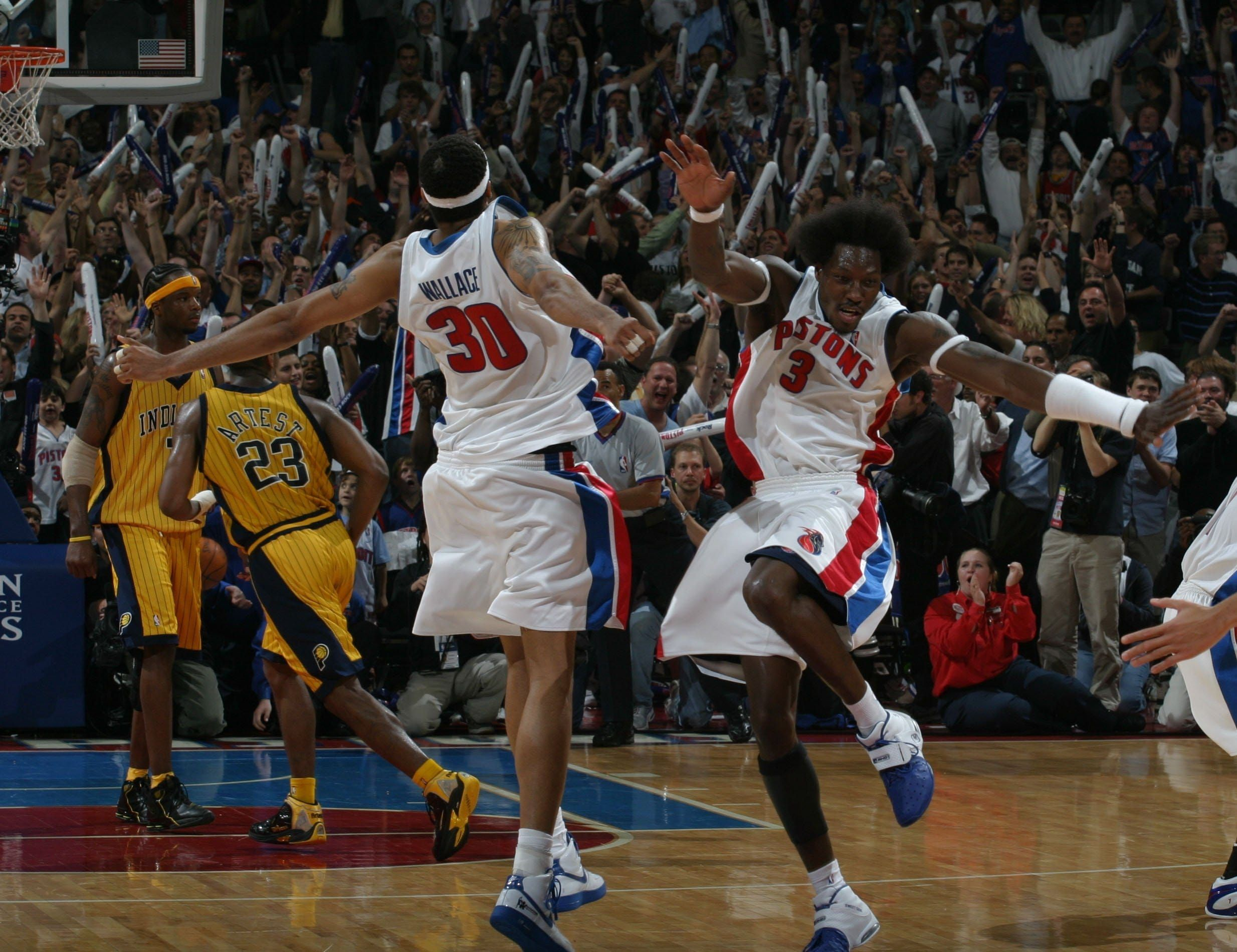 Detroit Pistons 2004 Championship Run One Photo From Each Playoff Game In 2020 Detroit Pistons Michigan Sports Detroit