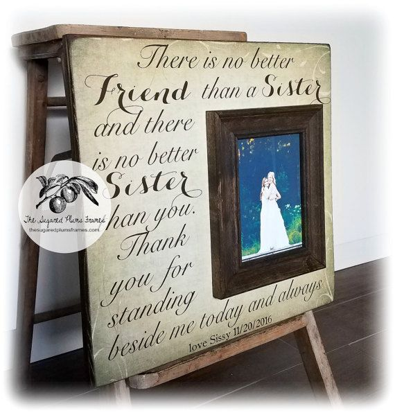 Bridesmaid Gifts, Personalized Picture Frame, There Is No Better ...