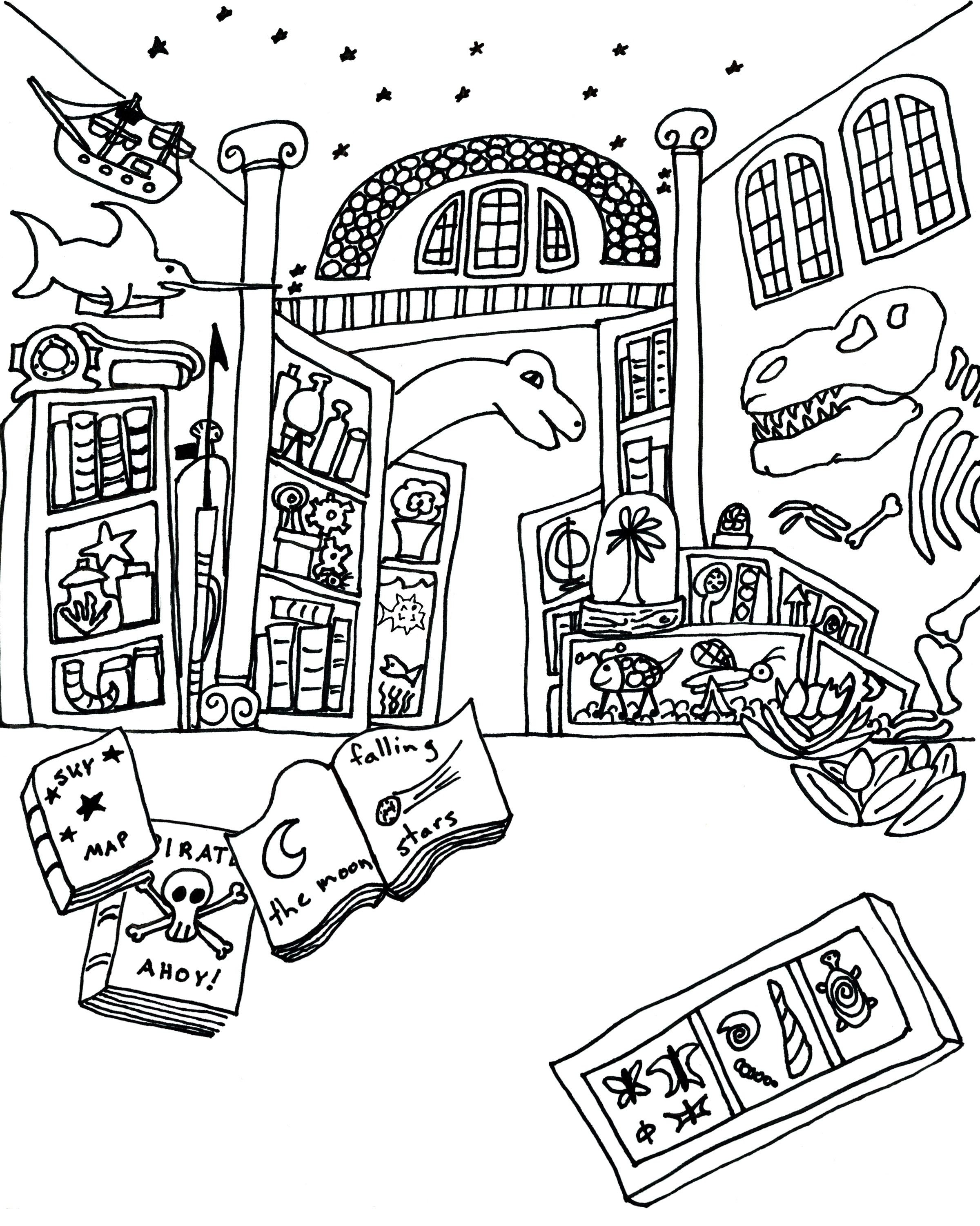 Museum Coloring Books Museum Map