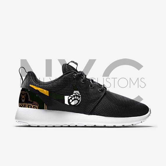 39072185d7fa Baylor Bears Nike Roshe One Run Custom shoes