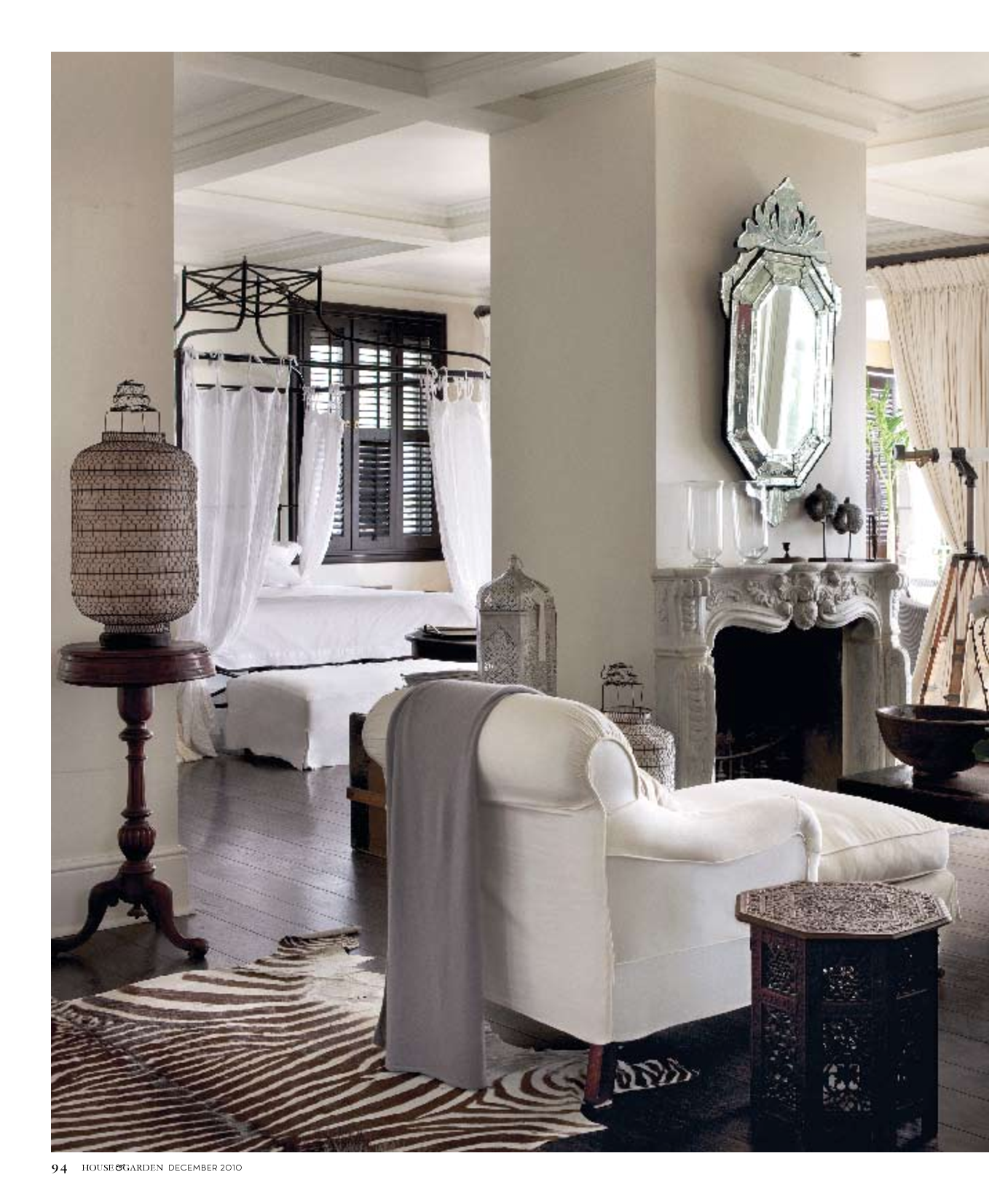 black white style modern bedroom silver. A Modern British Colonial Achieved By Monochrome Palette With Venetian Mirror, Silver Lantern And Black White Style Bedroom