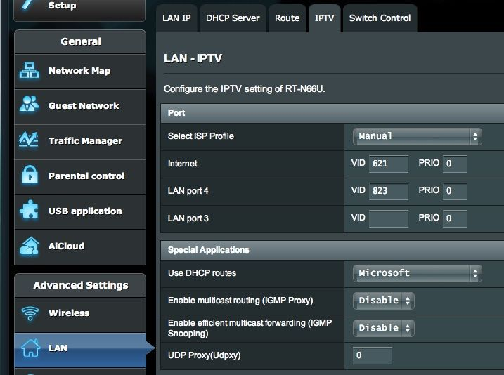 asus router how to set timed ip