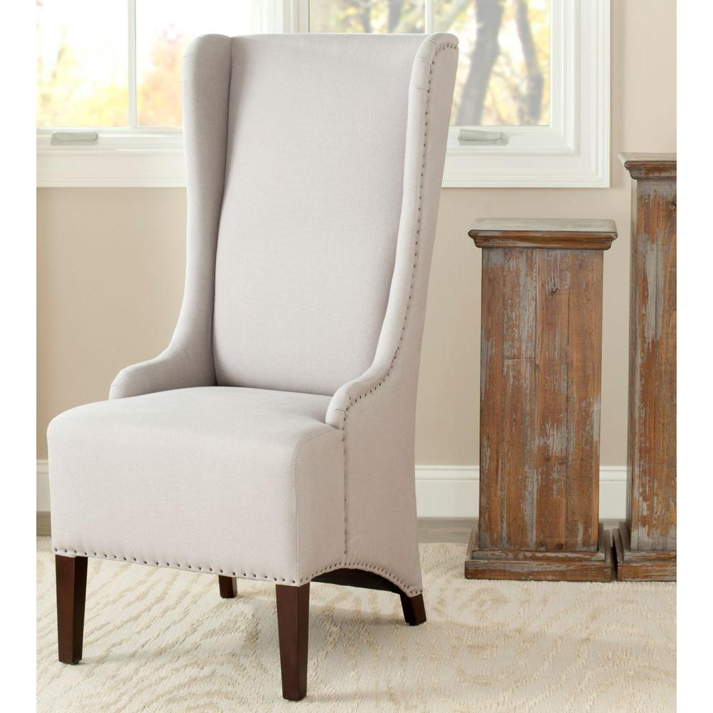 Safavieh Bacall Taupe Linen Dining Chair Mcr4501e Linen Dining
