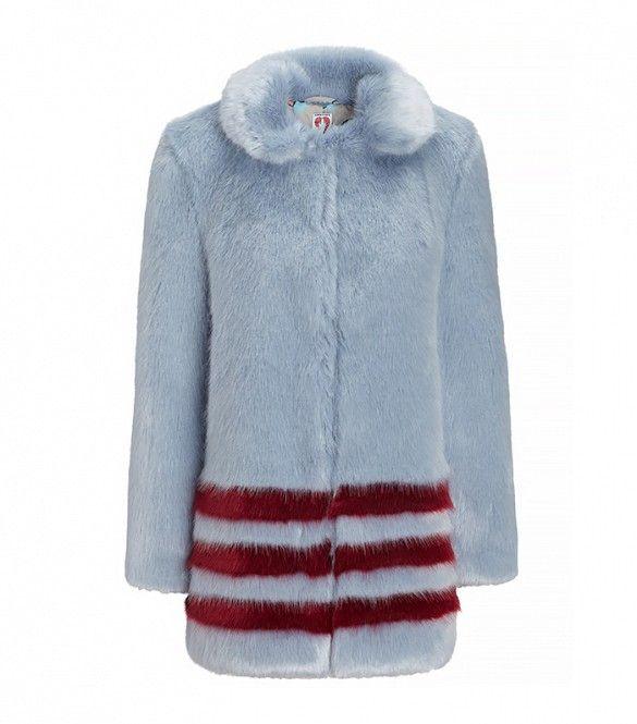 Is This The New It Girl Coat Blue Faux Fur Coat Girl Coat Coat