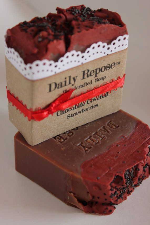 Best Chocolate Scented Flowers: Chocolate Covered Strawberries SCENTED Soap