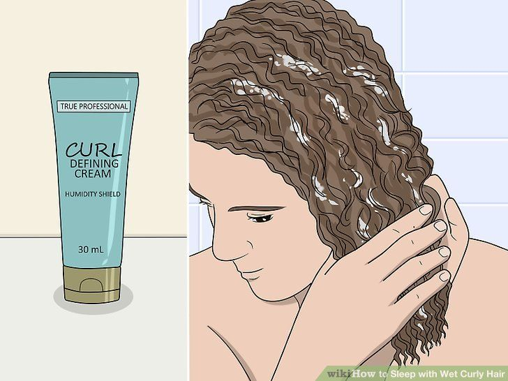 How to sleep with wet curly hair wet hair curls