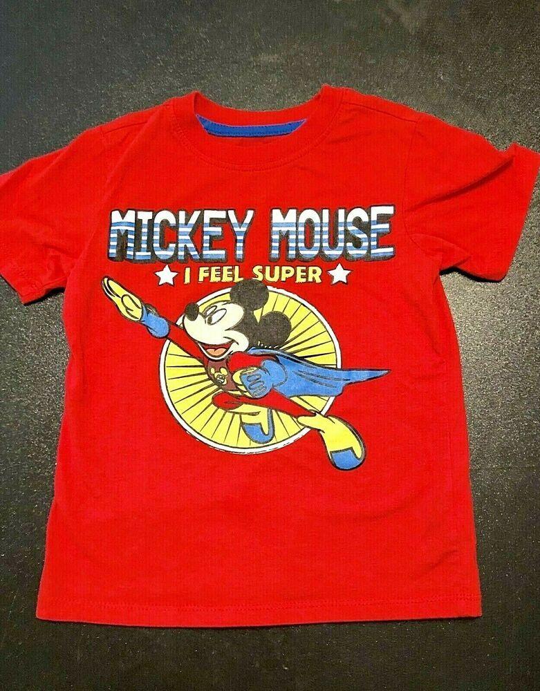 d38dff3c Disney Mickey Mouse T Shirt I feel Super Boys 4T Missing Cape #Disney  #Everyday