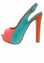 Suede & Patent Leather Slingback Heels #EasyNip