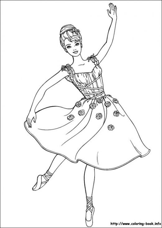 Barbie Becoming Beautiful Ballerina Coloring Page Coloring Pages