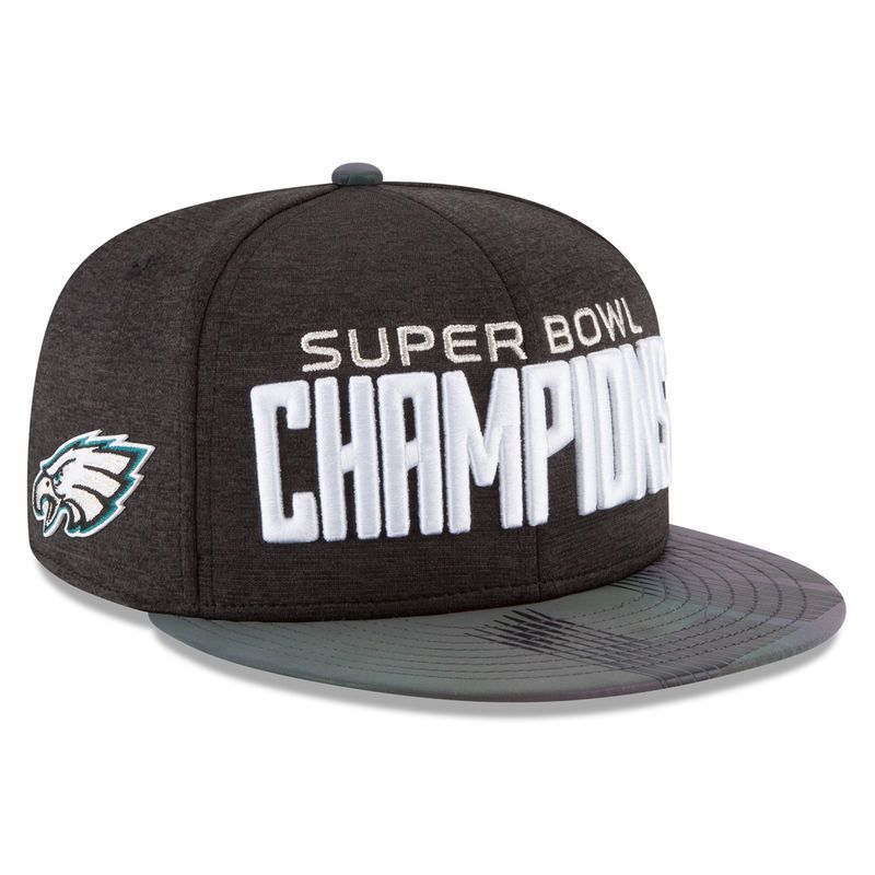 54845ee0db03d Philadelphia Eagles New Era Super Bowl LII Champions Parade 9FIFTY Snapback  Adjustable Hat – Black