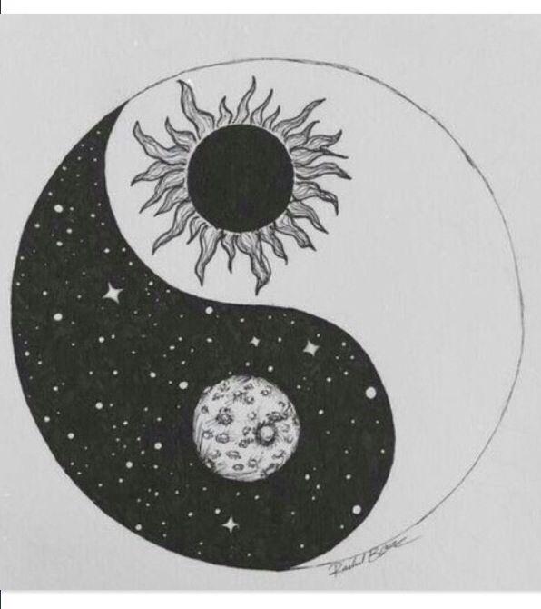 Sun Moon Yin Yang Tattoos Tattoos Yin Yang Tattoos Drawings