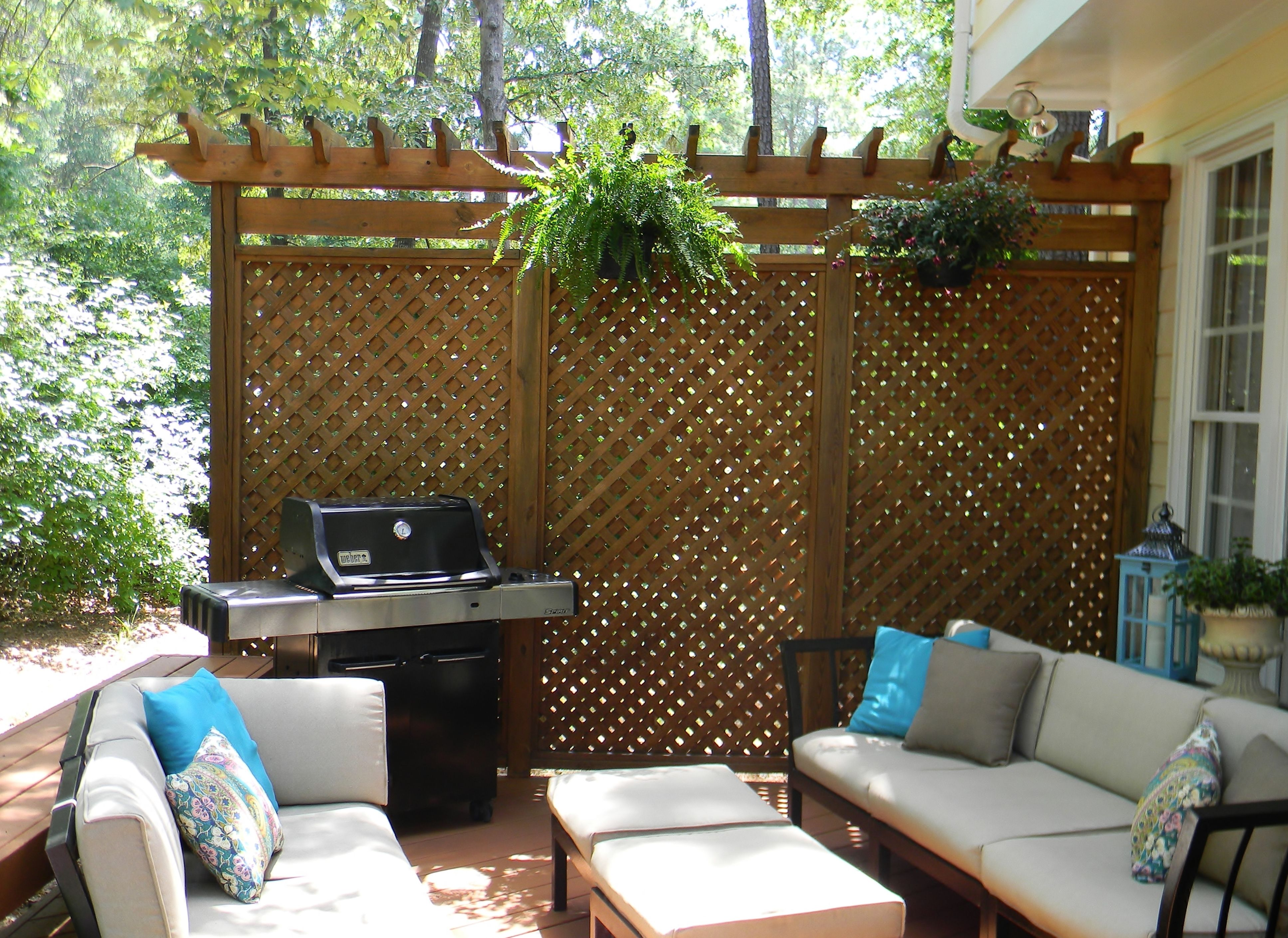 Patio Privacy Screen Plans. Saveemail. Balcony Privacy Screen Ikea.  Completed Trellis Planter Box