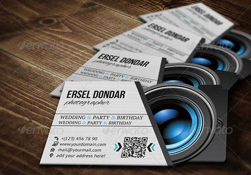 Photographer Name Card Businesscards Psdtemplate Printready - Photographer business cards templates