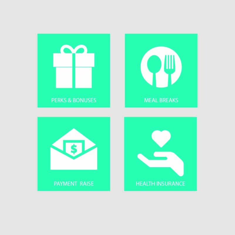 Employment 4 Benefits Icon Collection Design Vector Download With
