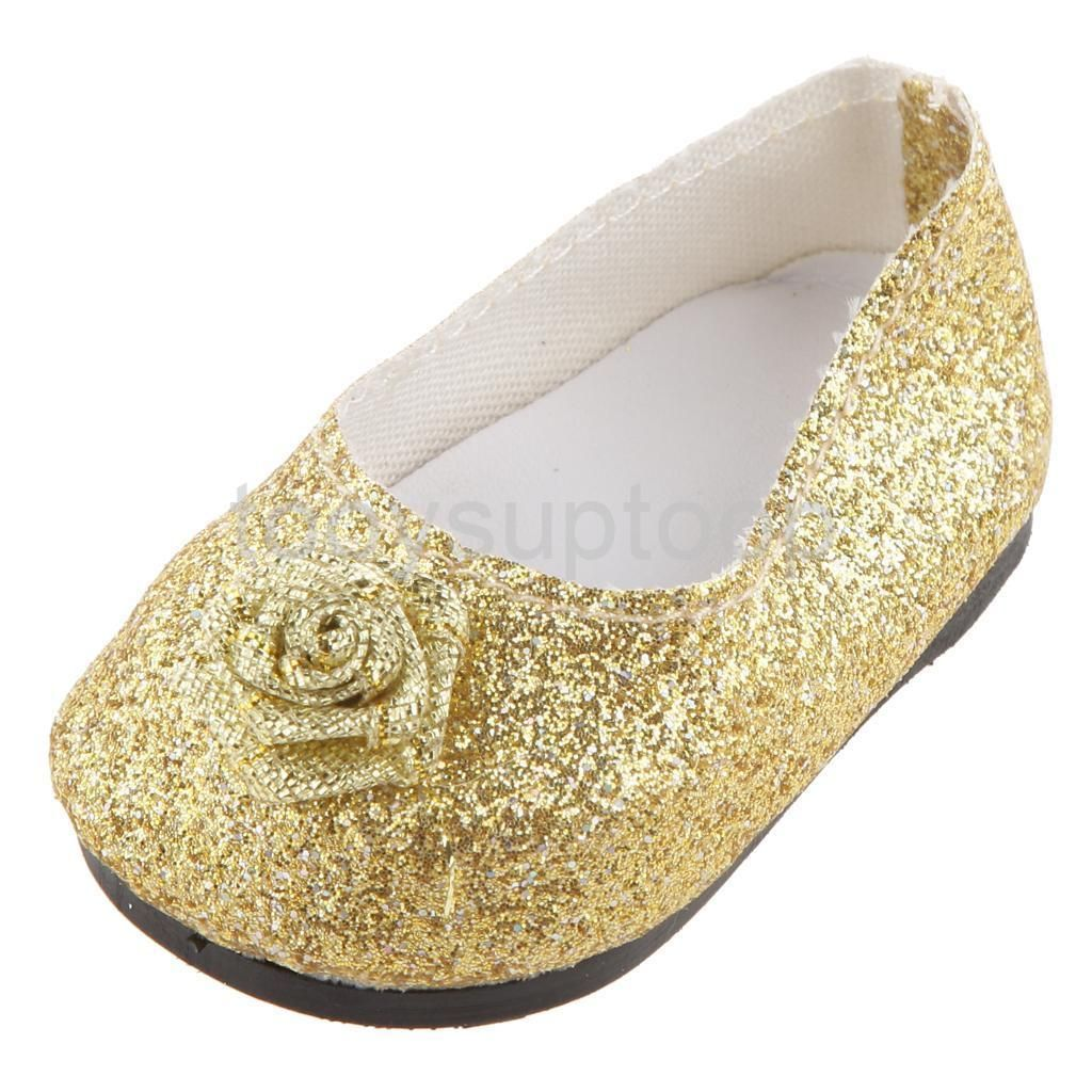48eef409bc1e $5.04 AUD - Golden Bling Bling Bow Shoes Made For 18 Inch American Girl  Doll Clothes #ebay #Collectibles