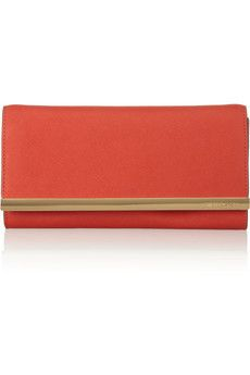 Tilda textured-leather clutch by Michael Michael Kors