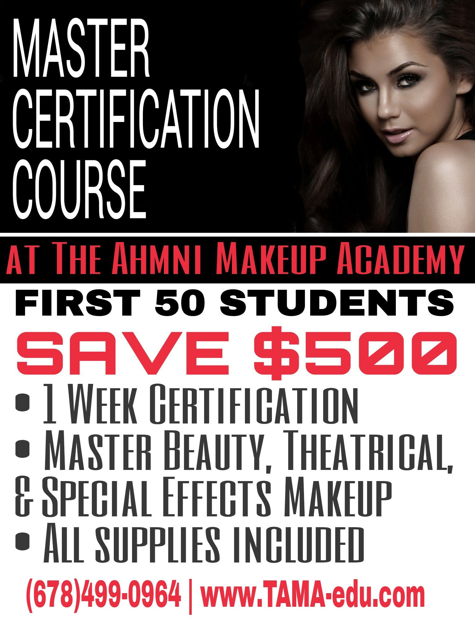 Master Certification Class for Makeup Artists at The Ahmni