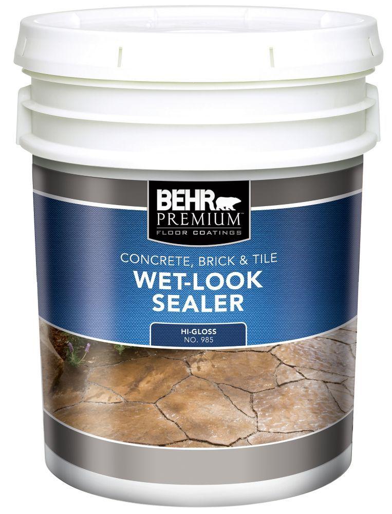 Behr Premium Concrete Brick Tile Wet Look Sealer High Gloss 18 9 L