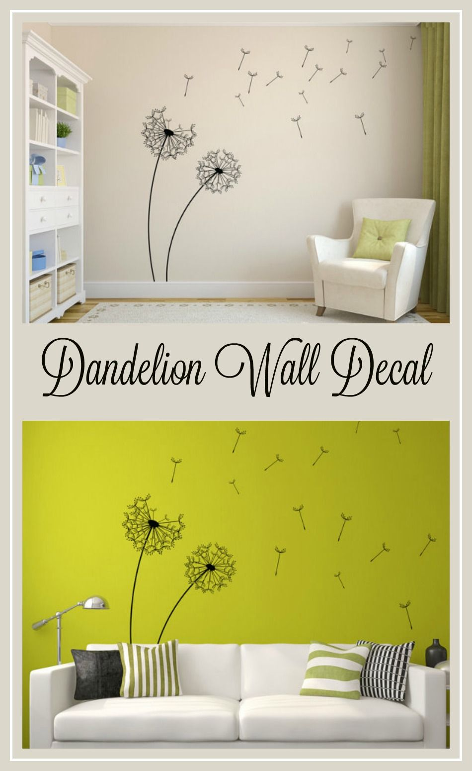I love the dandelion trend. This would be so cute in my family room ...
