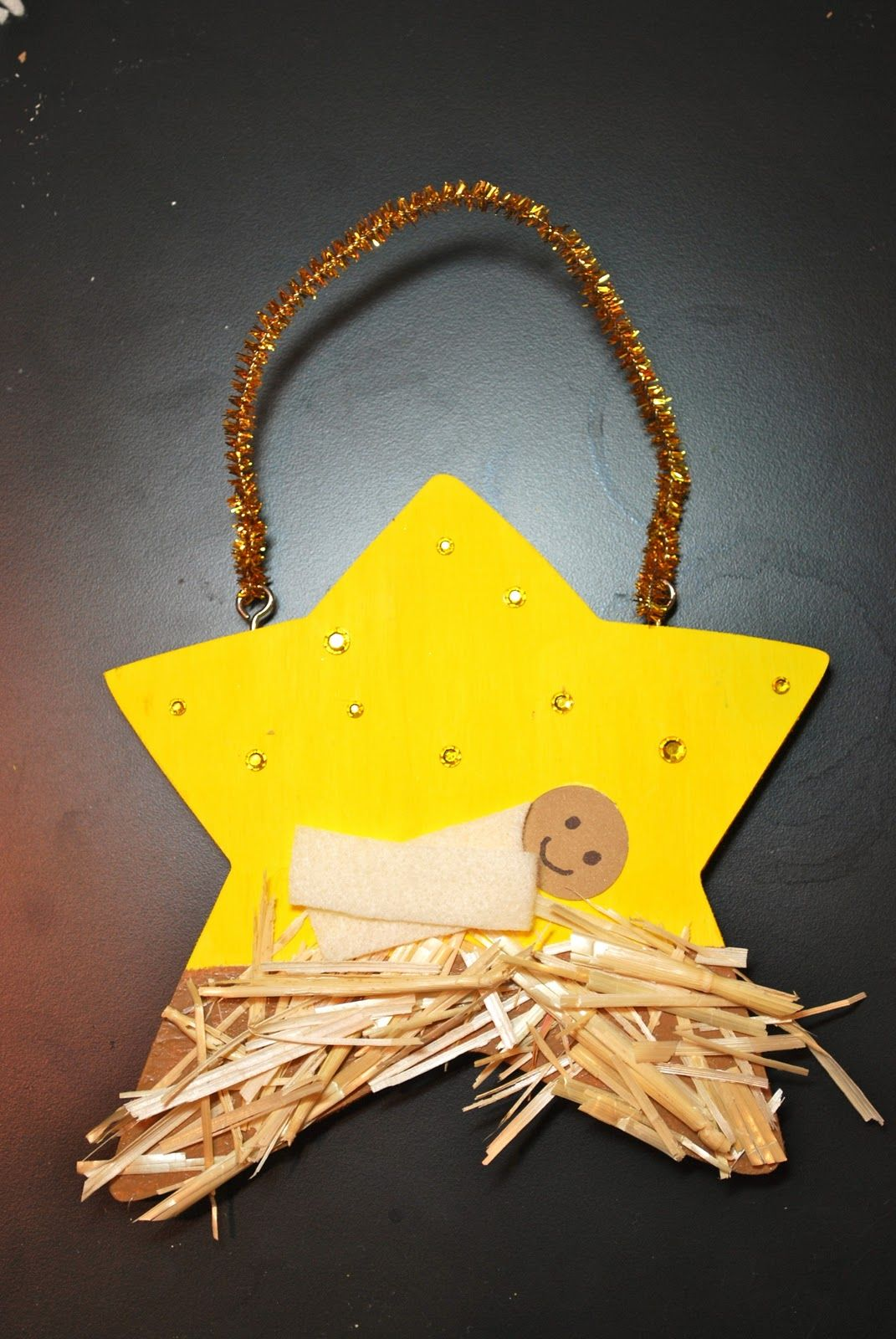 Attractive Christian Christmas Craft Ideas Part - 5: Jesus Nativity Christmas Craft, Would Be Cute On The Top Of A Tree.