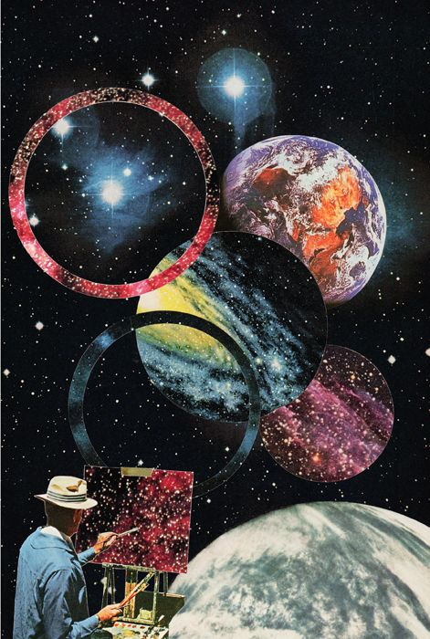 Miles Donovan - collage art - Ulysses A series of images from the missing space…