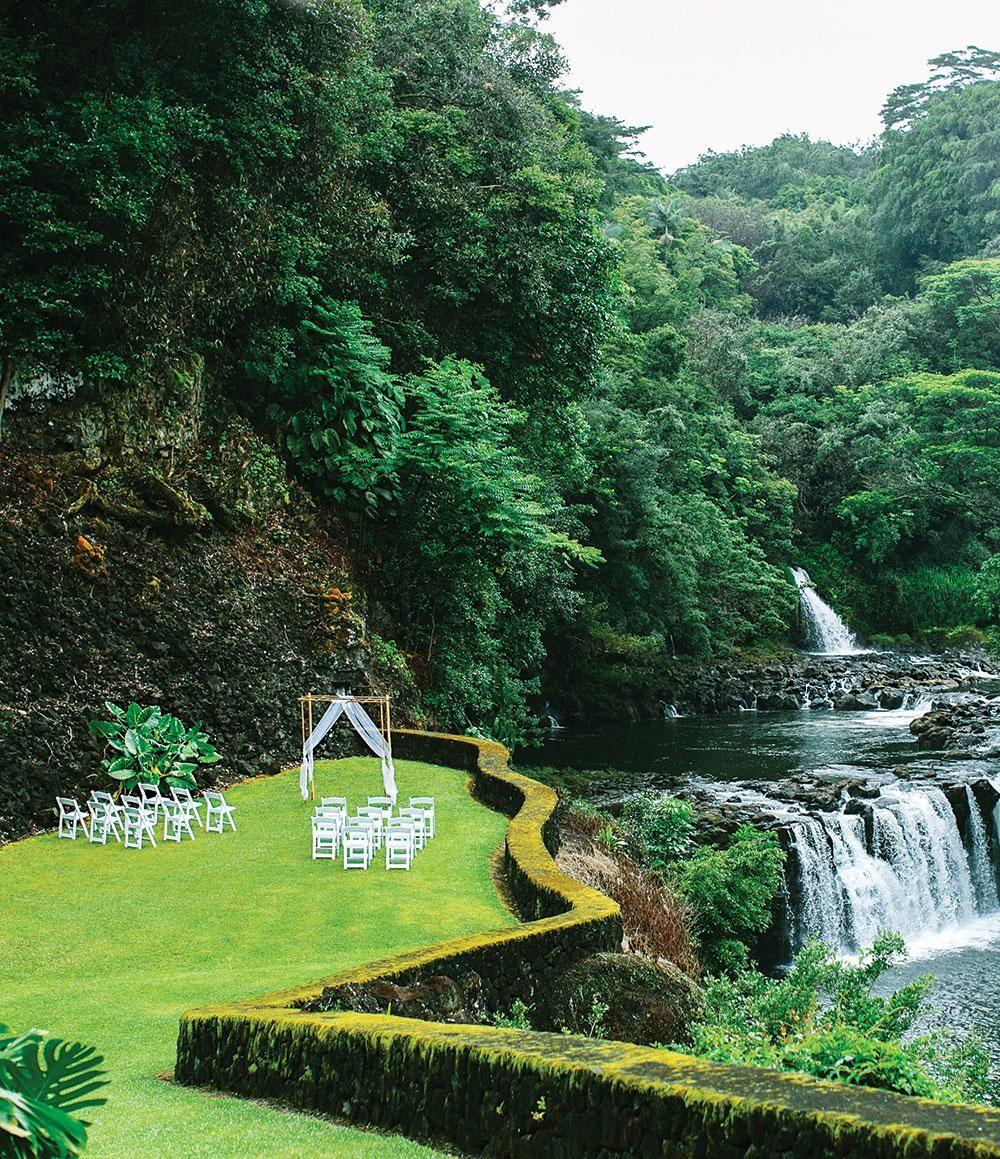 Reeds Island Falls Image Hawaii Wedding Travel At