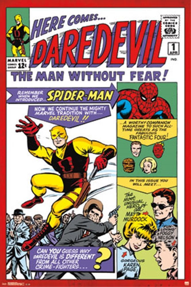 Daredevil Man Without Fear Comic Poster