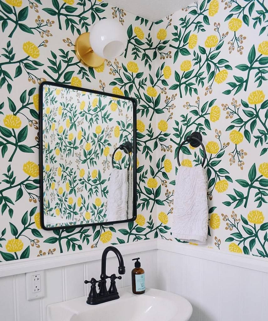Pattern Stories Bathroom Wallpaper Small Bathroom How To Install Wallpaper
