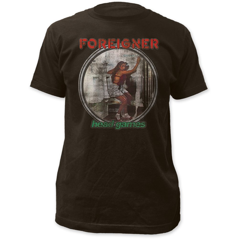 Foreigner Classic Rock N Roll Band Vintage T Shirt Head Games