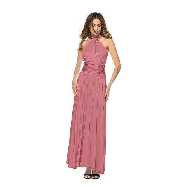 db86a52b25a26 Sexy Long Dress Bridesmaid Formal Multi Way Wrap Convertible ...