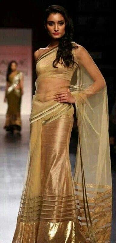 under saree naked