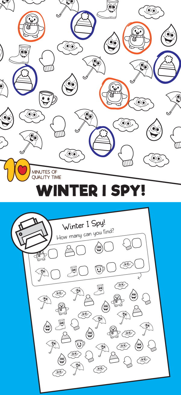 Winter I Spy Worksheet (With images) | I spy, Fun ...