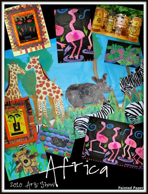 Beautiful art ideas for Africa art lesson