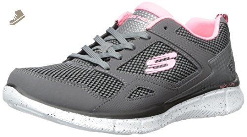 Skechers Status- Melec - Zapatillas de Deporte para Hombre, Gris (Char), 40