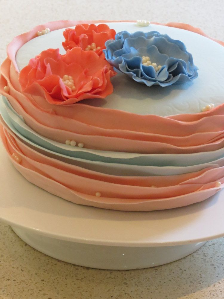 Image result for fondant ruffle cake