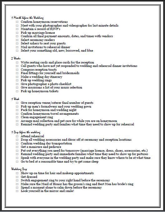 Ultimate Wedding Checklist Printable  Wedding Checklist