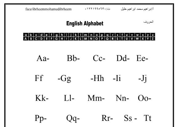 مدونة الحضانة الحروف الانجليزية كبتل وسمول Pdf Abc Flashcards Alphabet Flashcards Flashcards