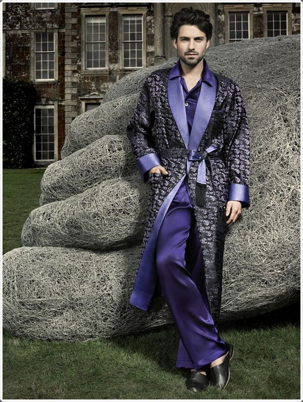 You can wear a silk robe like this on top of your pajamas if you want. f774e9e42