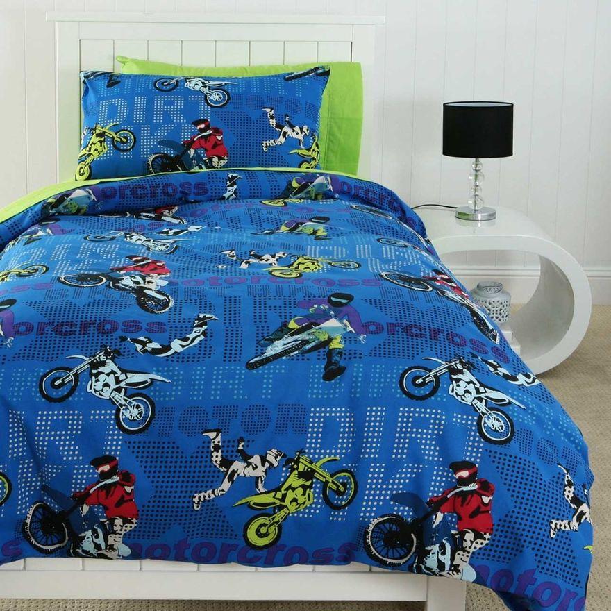 Motocross single bedding Dirt bike bedroom, Bedroom set