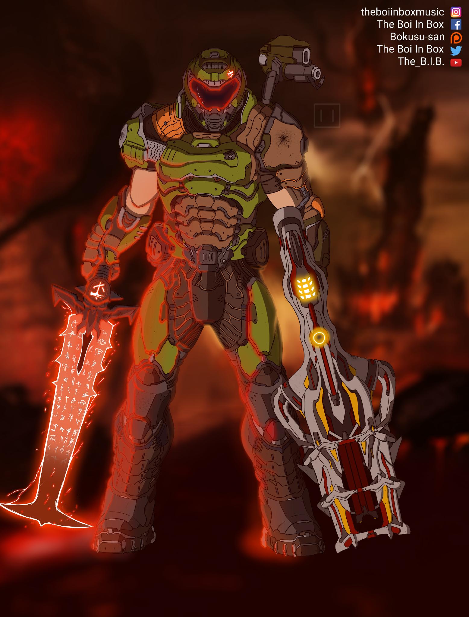 Doom Eternal Fan Art Doom Videogame Doom Slayer Meme