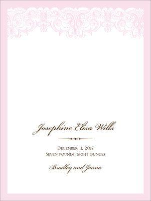 Pink Lace Announcements