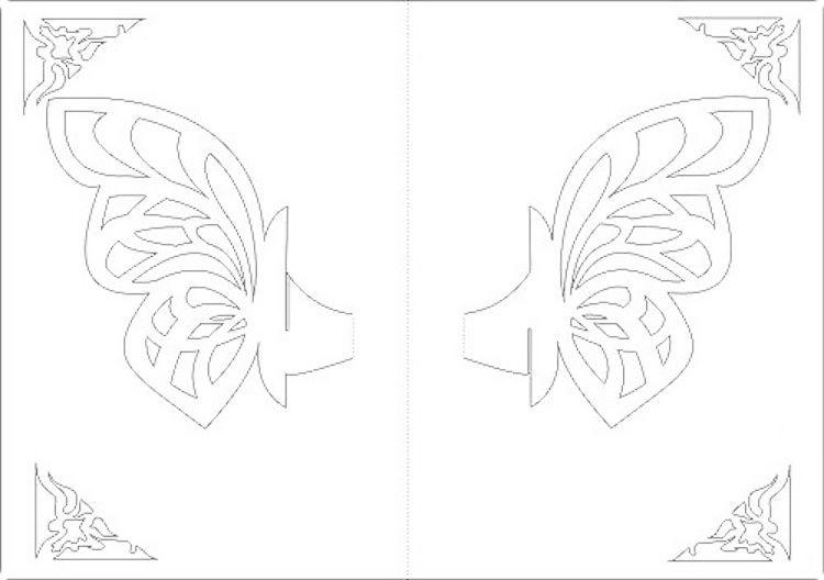 Pop Up Karte Vorlage Zum Ausdrucken.Kirigami Schmetterling Karte 3d Motiv Vorlage Ausdrucken Paper Art