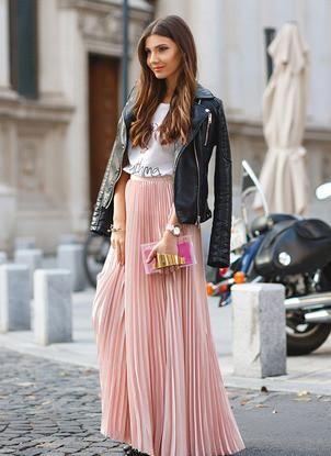d07b616aa Pink Pleated Maxi Skirt | All Fashion | Fashion, Pleated skirt ...