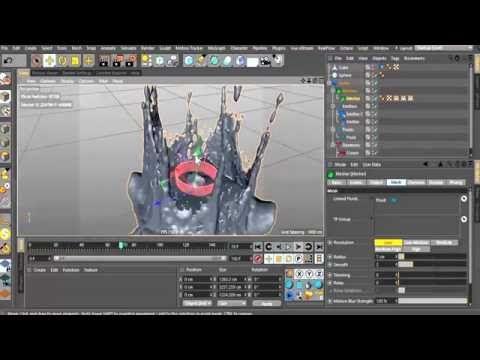 crown splash tutorial- REALFLOW FLUIDS INSIDE CINEMA 4D ... - YouTube