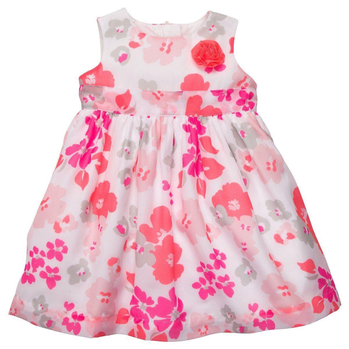 3a71ca189 vestido sin mangas estampado floral rosa | vestidos niña | Vestidos ...