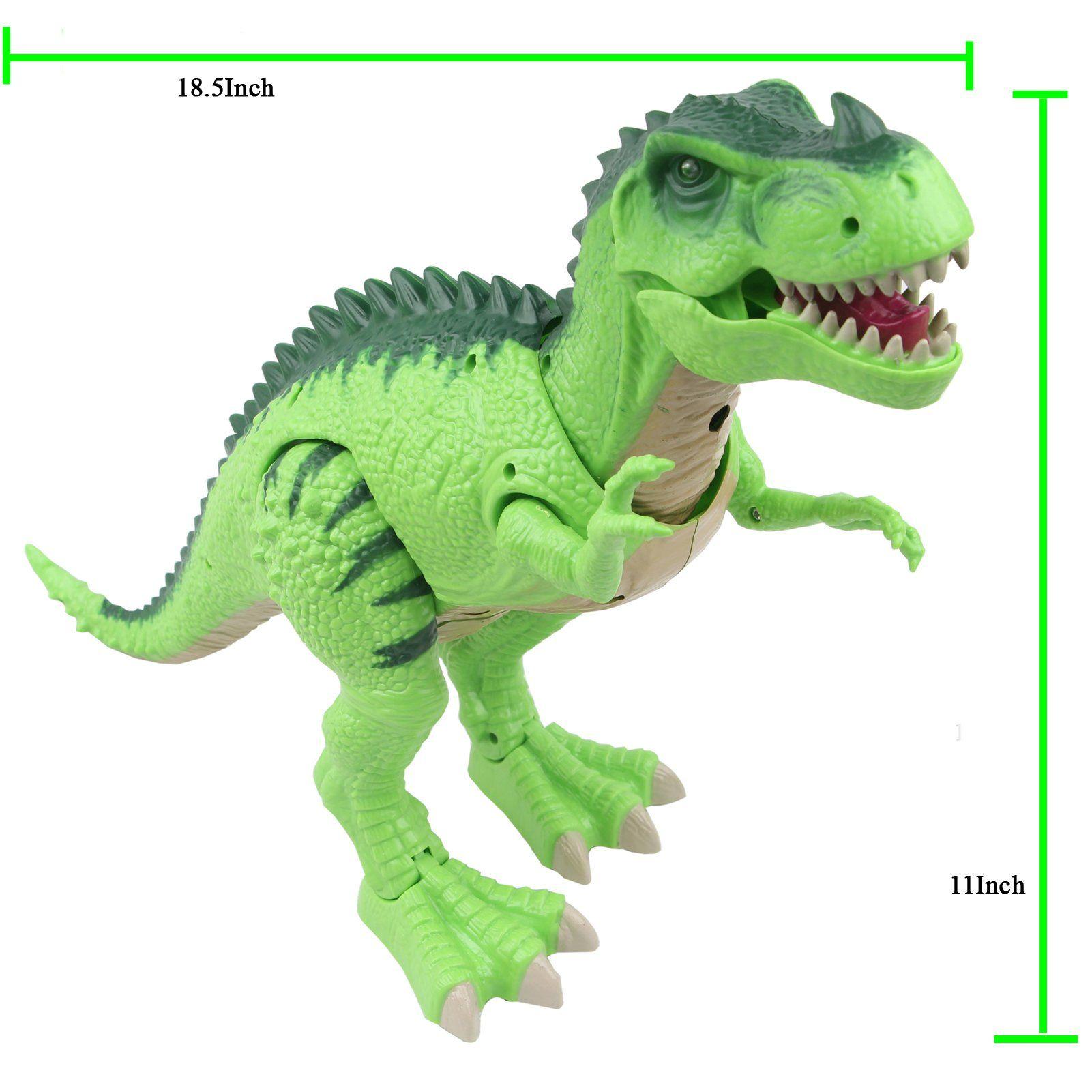 Sun Cling Electronic Toys Green Walking Trex Dinosaur You Can