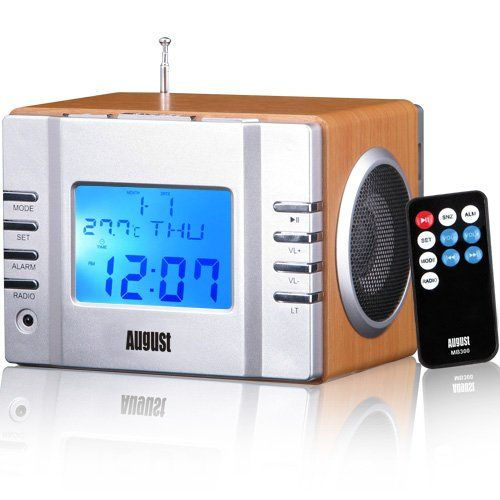 59e411d4eaf August MB300 - Portable MP3 Stereo System and FM Alarm  Amazon.co.uk   Electronics