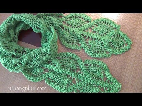 how to crochet pineapple scarf free pattern tutorial - YouTube ...